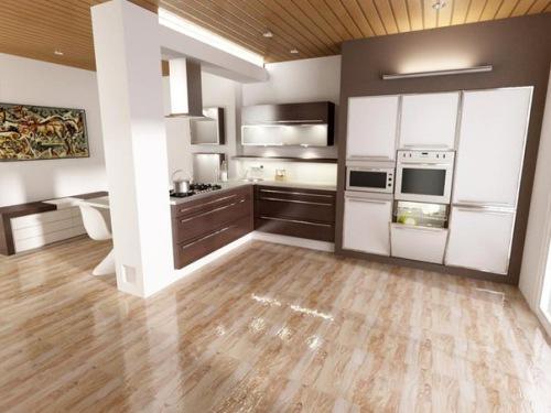 Особенности и нюансы укладки натурального паркета и паркетной доски на кухне